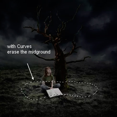 Иллюстрация дерева с лунами 34