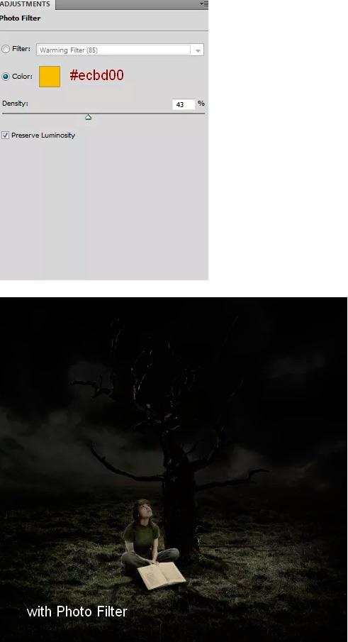 Иллюстрация дерева с лунами 39