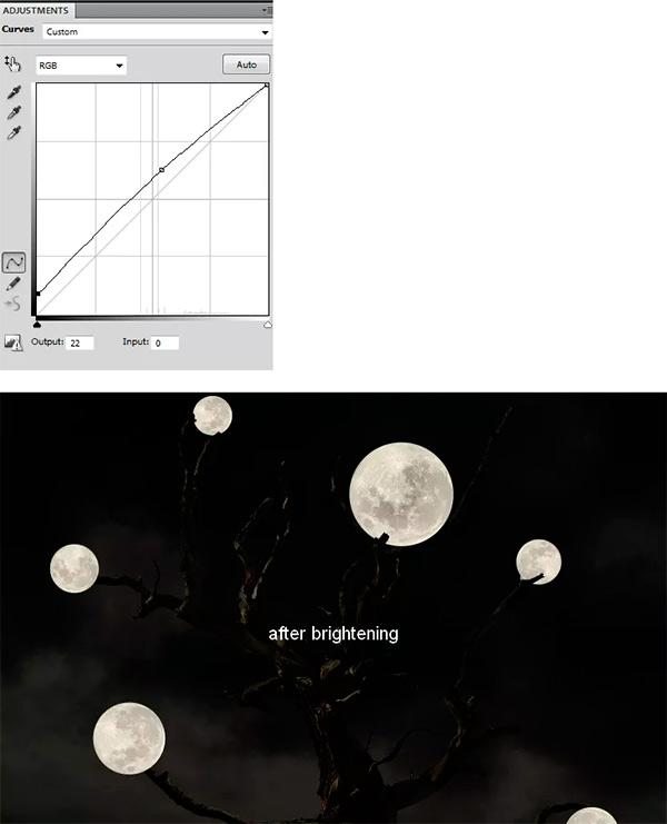Иллюстрация дерева с лунами 45