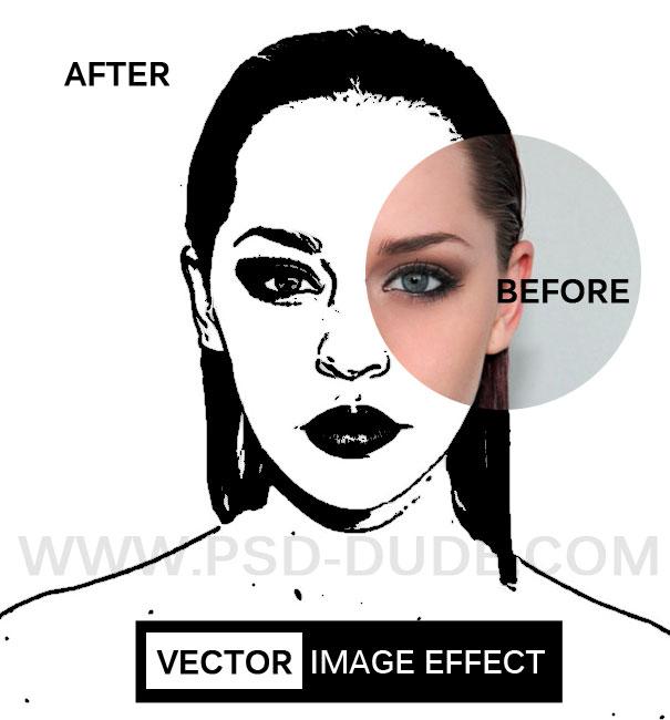 как в фотошопе изображение сделать векторным