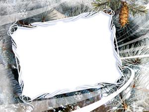 Рамка для фотографии - зима 1
