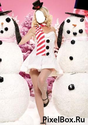 Рамка для фотографии - в обнимку со снеговиками 1