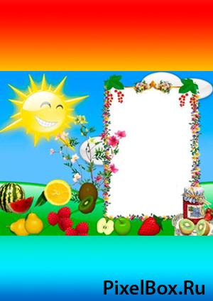 Рамка для фотографии - Веселая с фруктами 1