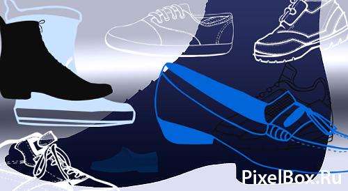 Хорошие кисти в виде всевозможной обуви для Photoshop