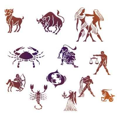 значки знаков зодиака: