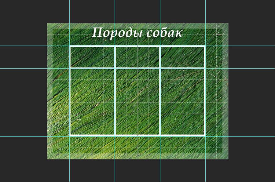 ровная таблица в фотошопе