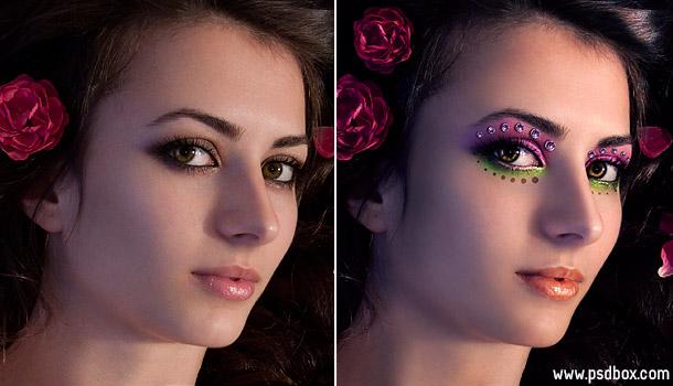 Как нанести макияж в фотошоп?