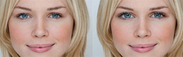 Как увеличить глаза, губы и грудь в фотошопе?