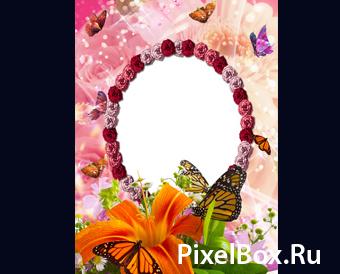 Рамка для фотографии - С цветочками 1