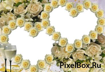 Рамка для фотографии - С розами 1