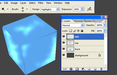 3d куб из льда 3