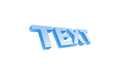 3d текст в фотошопе 9