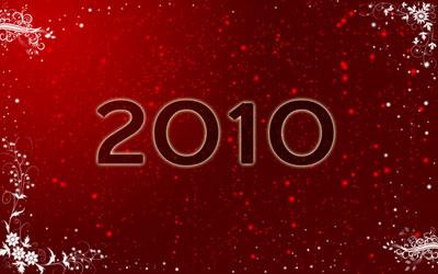 Новогодние обои 2010 в photoshop 18