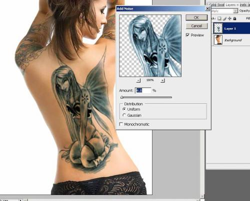 Создание татуировки на теле, фотография 14
