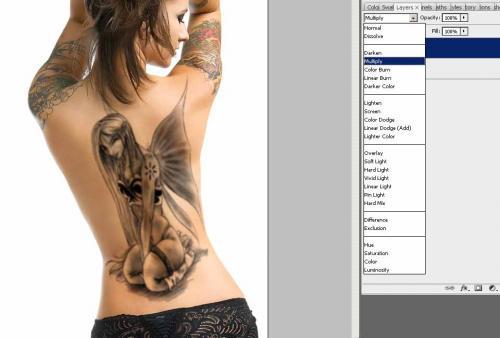 Создание татуировки на теле, фотография 9