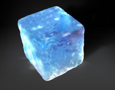 3d куб из льда 1