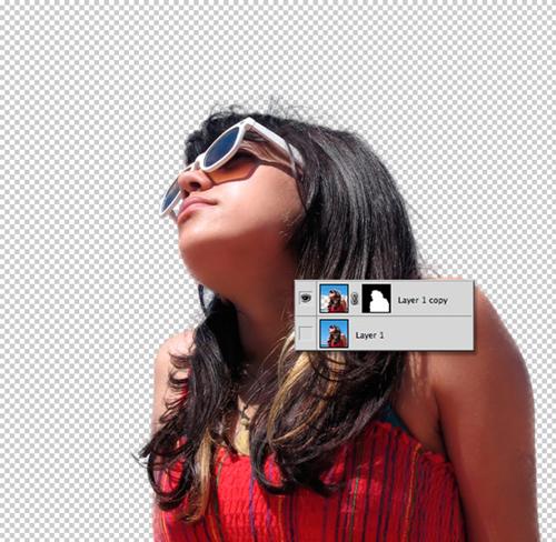 Обработка фотографии с функцией Refine Edge 10