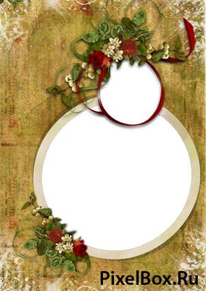 Рамка для фотографии - Розы 1