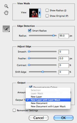 Обработка фотографии с функцией Refine Edge 9