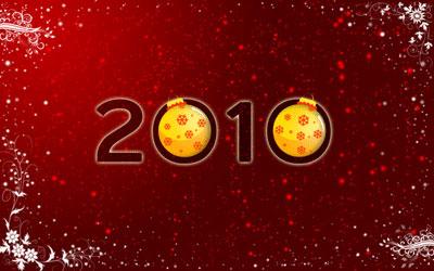 Новогодние обои 2010 в photoshop 36