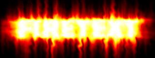 Огненный текст в photoshop 5