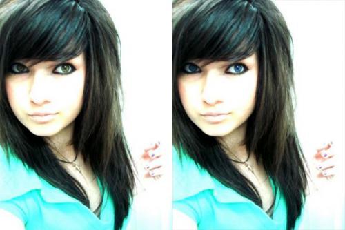 Как в фотошопе изменить цвет глаз 1