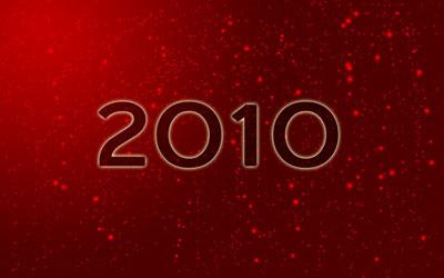 Новогодние обои 2010 в photoshop 15