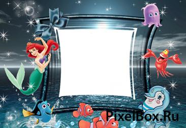 Рамка для фотографии - из мультфильма русалочка 1