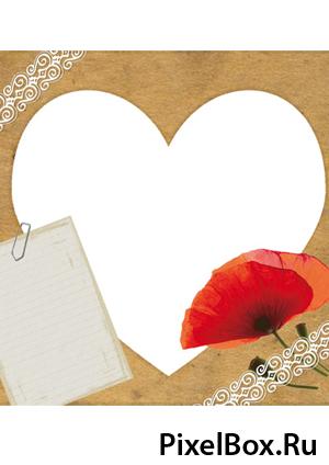 Рамка для фотографии - Сердце 1
