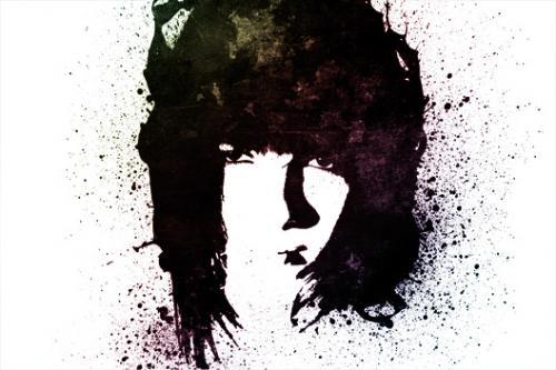 Портрет в стиле grunge (гранж) 1