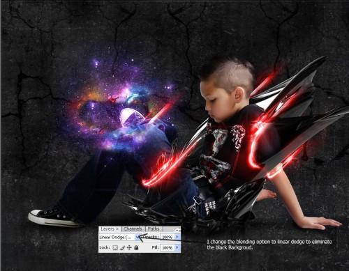 Коллаж со световыми эффектами 26