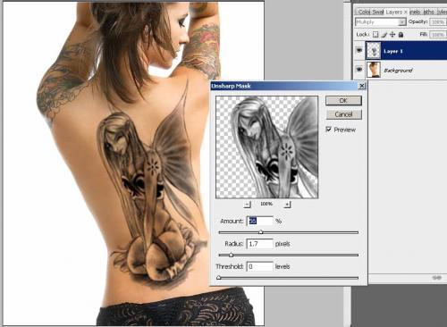 Создание татуировки на теле, фотография 11
