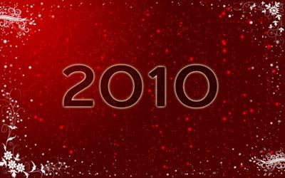 Новогодние обои 2010 в photoshop 20
