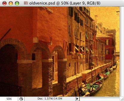 Старая Венеция - работа с фотографией 9