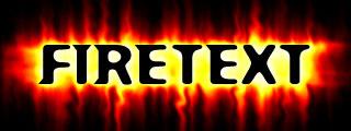 Огненный текст в photoshop 6