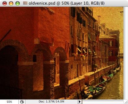 Старая Венеция - работа с фотографией 10