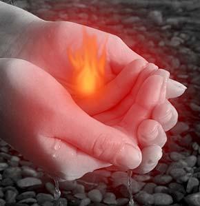 Как нарисовать огонь в фотошопе 6