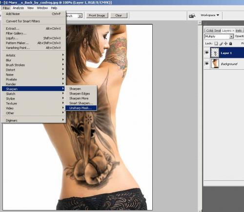 Создание татуировки на теле, фотография 10