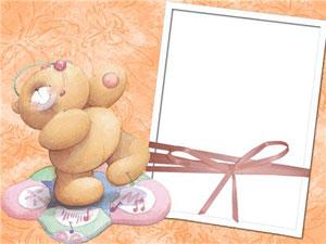 Рамка для фотографии - нарисованный медведь 1