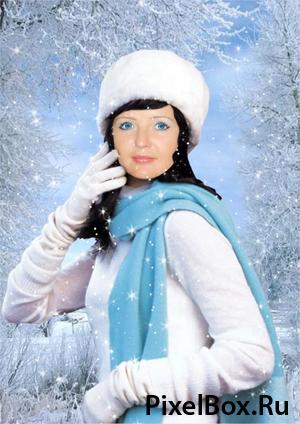 Рамка для фотографии - зимний портрет 1