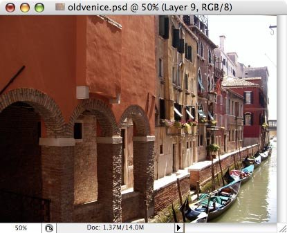 Старая Венеция - работа с фотографией 8