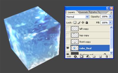 3d куб из льда 8