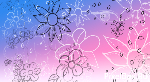 Кисти для фотошопа нарисованные цветы