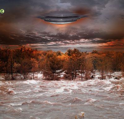 Инопланетное вторжение коллаж 6