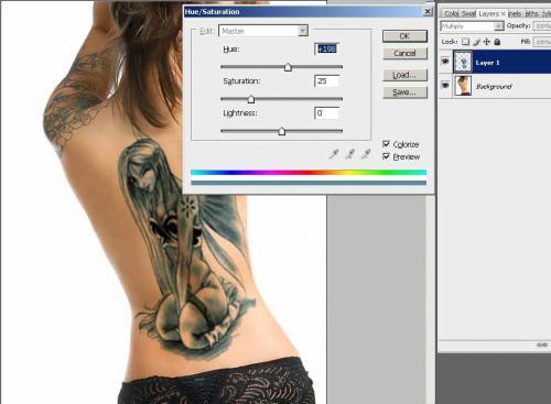 Создание татуировки на теле, фотография 12