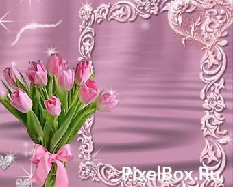 Рамка для фотографии - Тюльпаны 1
