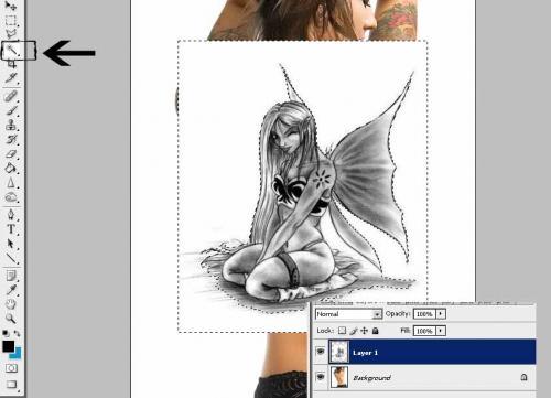 Создание татуировки на теле, фотография 5