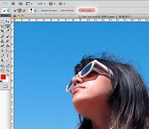 Обработка фотографии с функцией Refine Edge 4