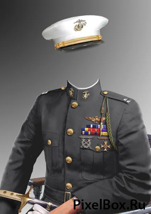 Рамка для фотографии - морской офицер 1
