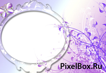 Рамка для фотографии - Фиолетовая с цветами 1